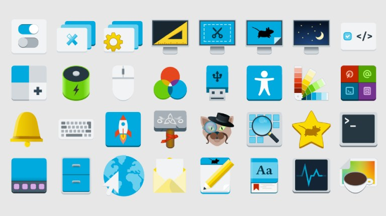 New upstream Xfce icons, coming in many sizes for sharp appearance