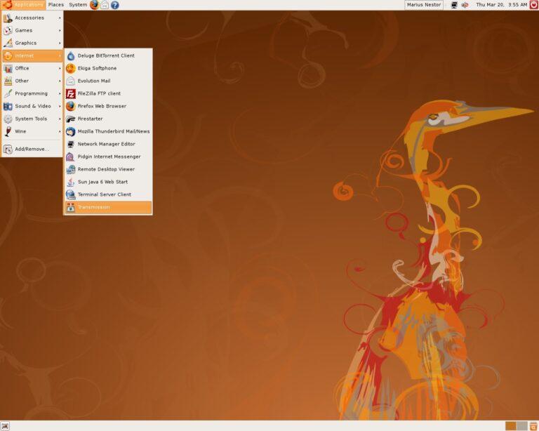 "Ubuntu 8.04 ""Hardy Heron"", my introduction to Linux."