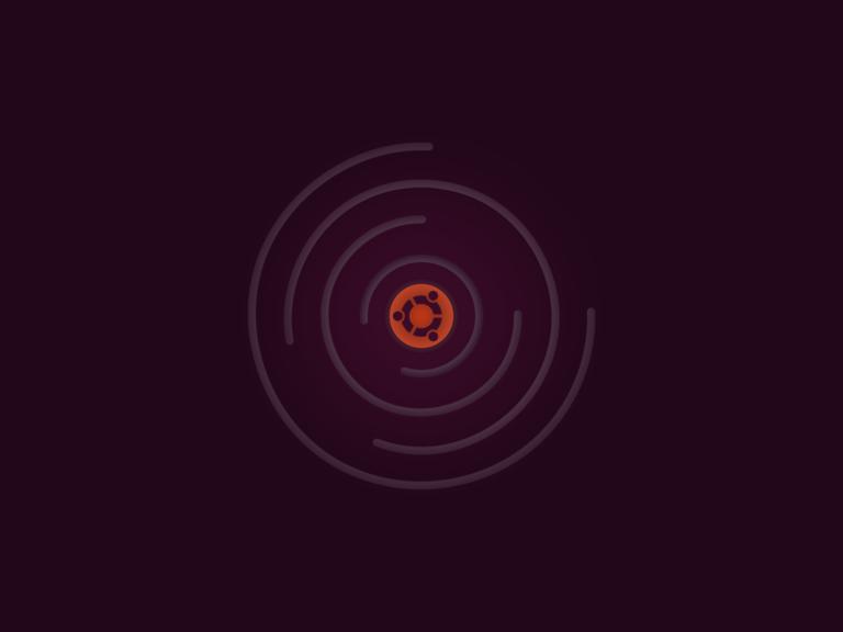 Custom Ubuntu artwork.