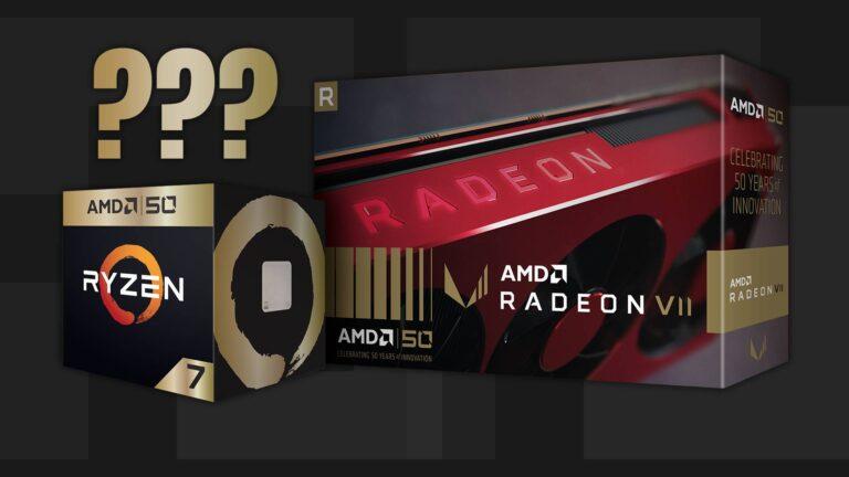 AMD 50th Anniversary gold edition hardware