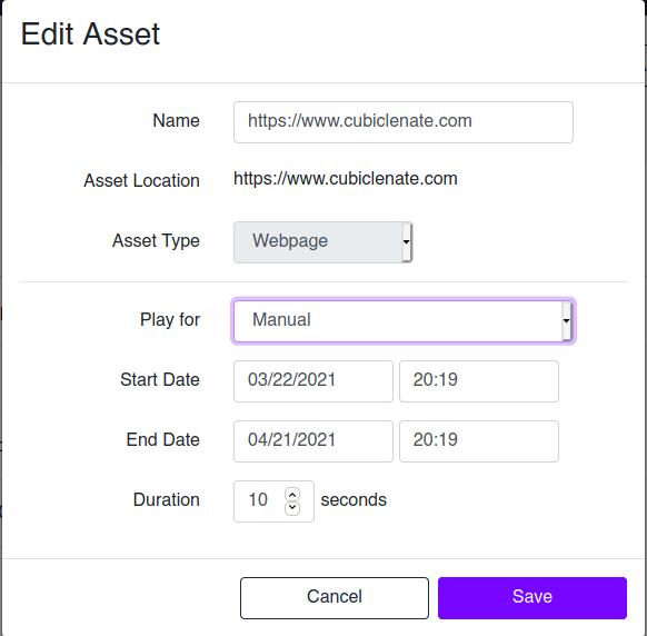 Edit Assets