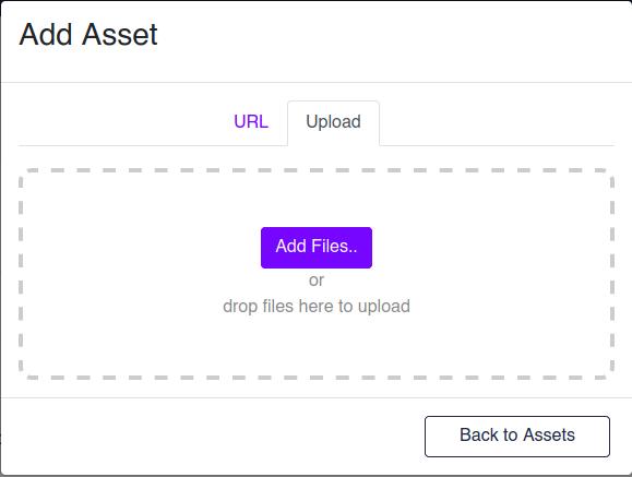 Add Asset Upload