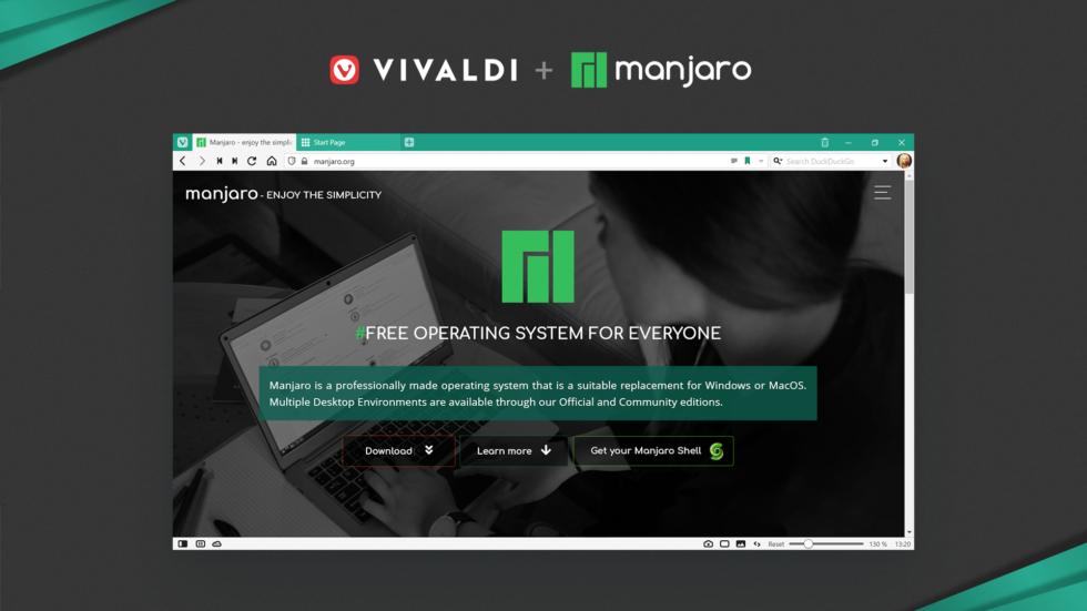 Manjaro Cinnamon Switches Default Browser To Vivaldi