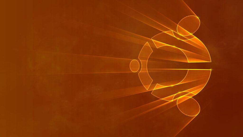Custom Ubuntu logo wallpaper.