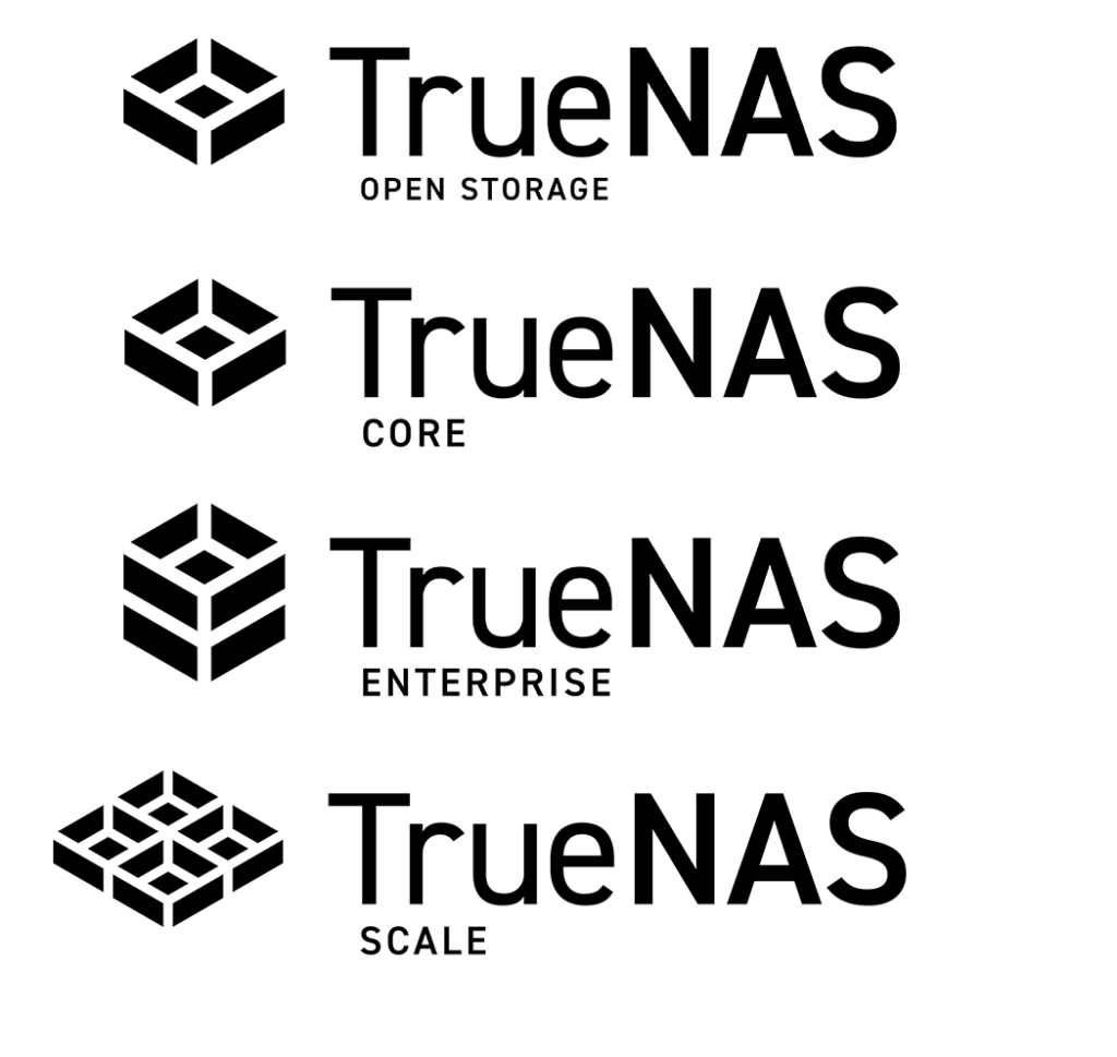 The different products of TrueNAS.