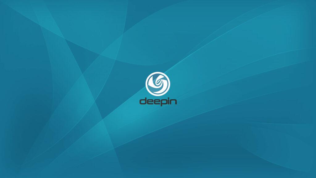 Custom deepin logo wallpaper.