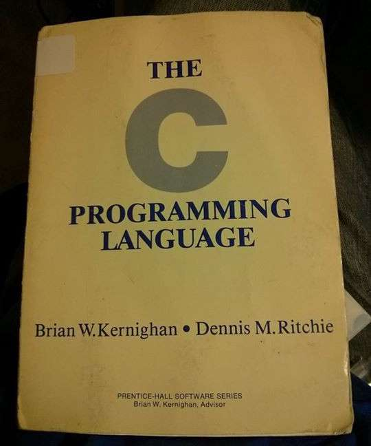 The first edition of The C Programming Language book. (Credit: spin0r.wordpress.com)