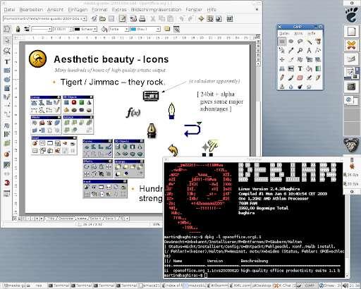 An early version of Debian