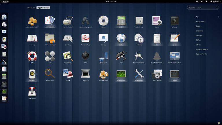 The minimalist GNOME 3.0 desktop. (Credit: Ryan Paul)