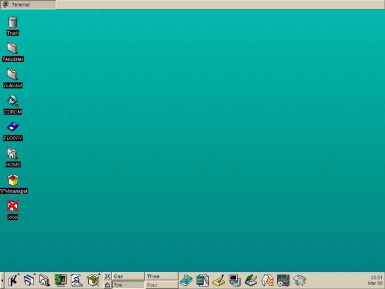 Linux-Mandrake 5.1 with KDE Version 1.0. (Credit: Thom Holwerda)