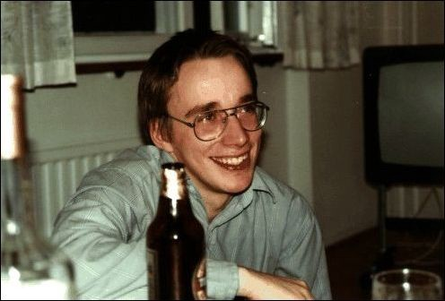 A young Linus Torvalds, who would build the Linux kernel and alter Unix history forever. (Credit: Paul Arnote)