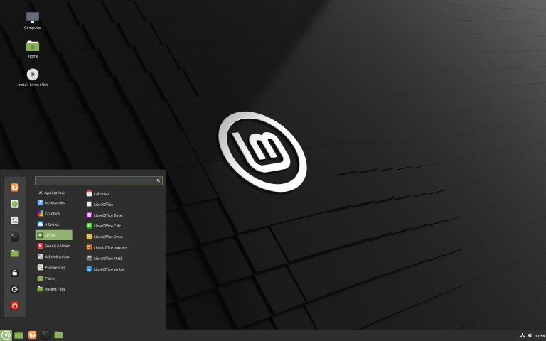 Linux Mint 20 with the Cinnamon desktop