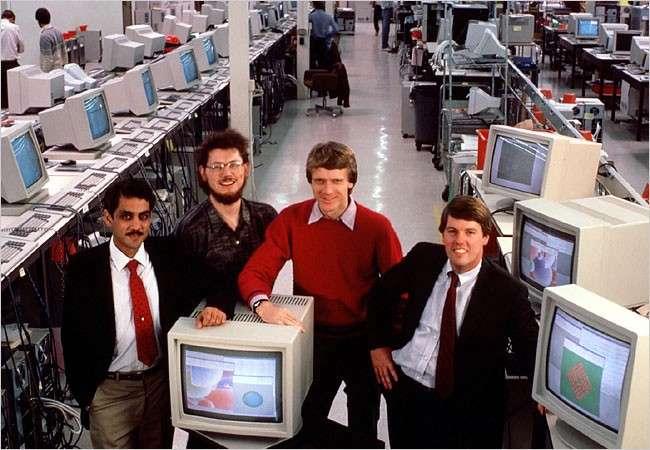 Sun Microsystems with Bill Joy (in red sweater). (Credit: Don Hopkins)