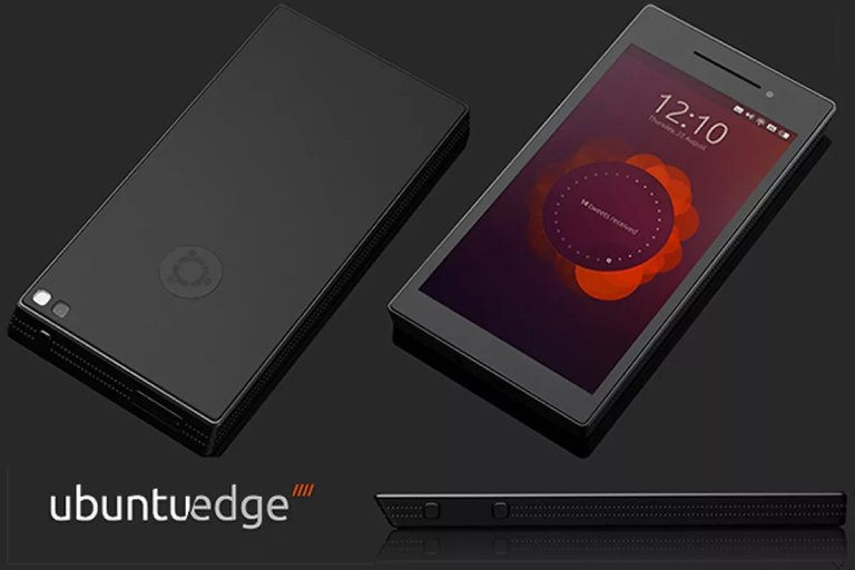 The design of the Ubuntu Edge phone with Ubuntu Touch. (Credit: Cassidy James)