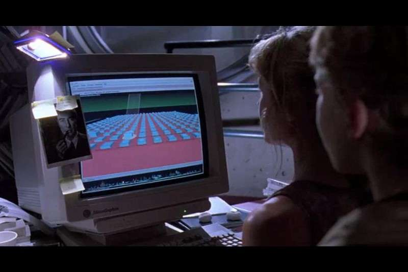 "IRIX, the famous Unix system from 1993's ""Jurassic Park"" film. (Credit: ""Jurassic Park"" (1993))"