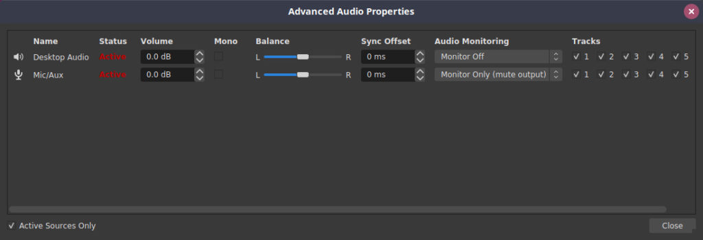 Advanced Audio Properties in OBS