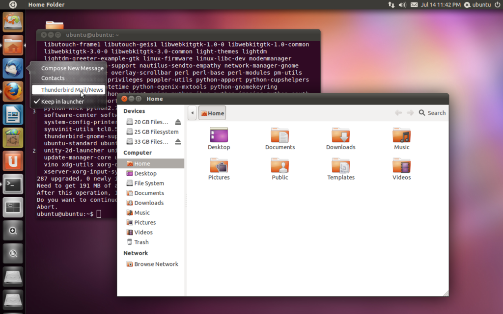 "The Unity Shell in Ubuntu 11.10 ""Oneiric Ocelot"". (Photo Credit: www.techdrivein.com)"