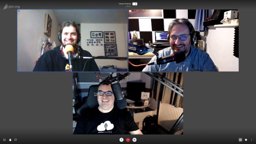 The Ubuntu Podcast hosts. (Credit: @ubuntupodcast on twitter.com)