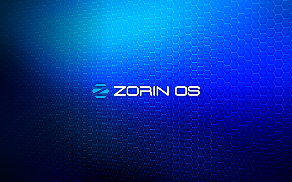 Custom Zorin OS wallpaper.